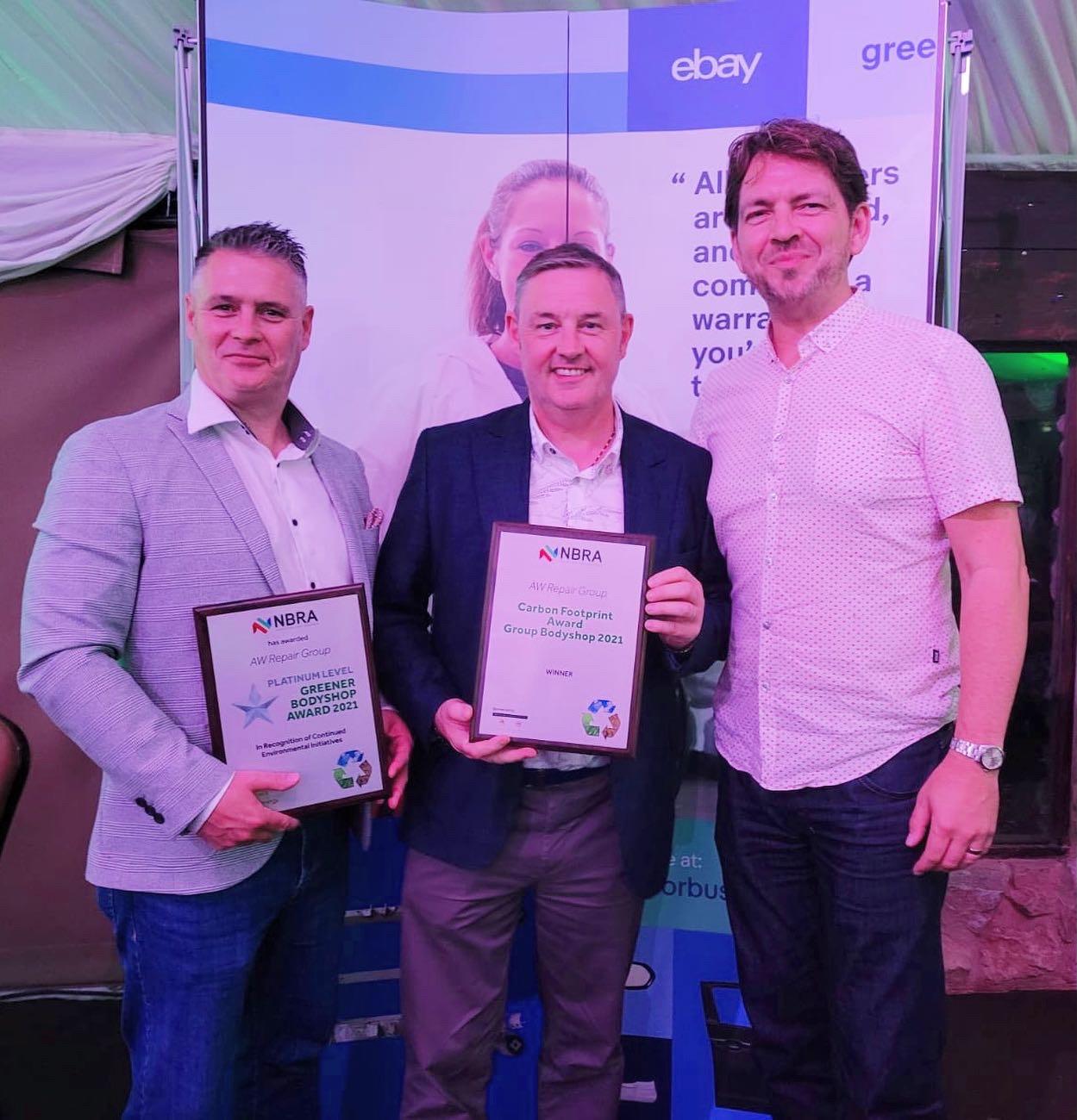 AW win two Greener Bodyshop Awards at NBRA Awards